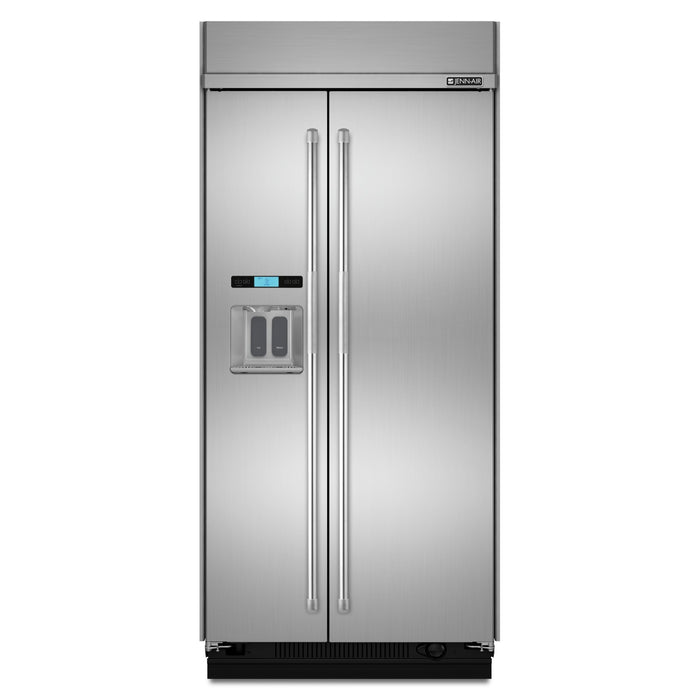 Jenn-Air 48-Inch Built-In Side-by-Side Refrigerator with Water Dispenser