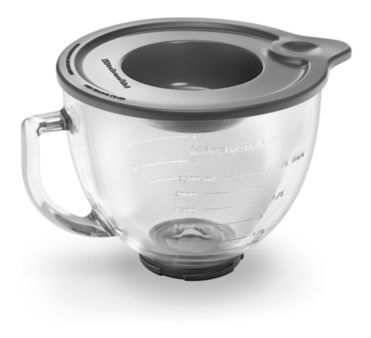 Kitchenaid 5-Qt. Tilt-Head Glass Bowl with Measurement Markings & Lid