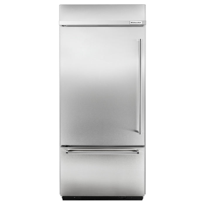 "KitchenAid Built-In Stainless Bottom Mount Refrigerator 20.9 Cu. Ft. 36"" Width"