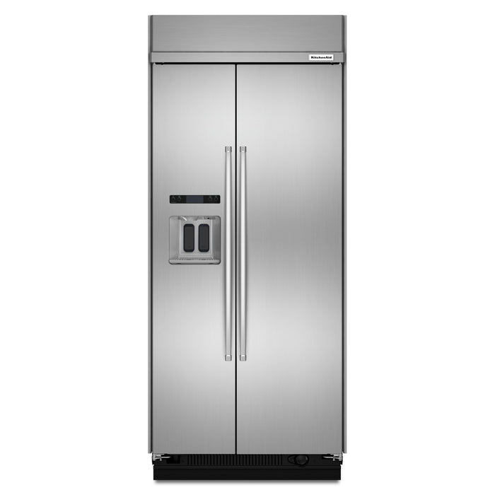 KitchenAid 20.8 cu ft 36-Inch Width Built-In Side-by-Side Refrigerator