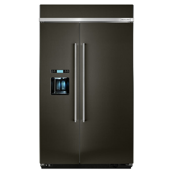 KitchenAid 29.5 cu. ft 48-Inch Width Built-In Side by Side Refrigerator with PrintShield Finish