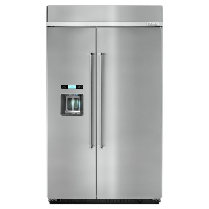 KitchenAid 29.5 cu. ft 48-Inch Width Built-In Side by Side Refrigerator
