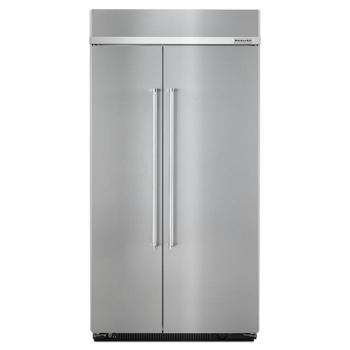 KitchenAid 25.5 cu. ft 42-Inch Width Built-In Side by Side Refrigerator with PrintShield Finish