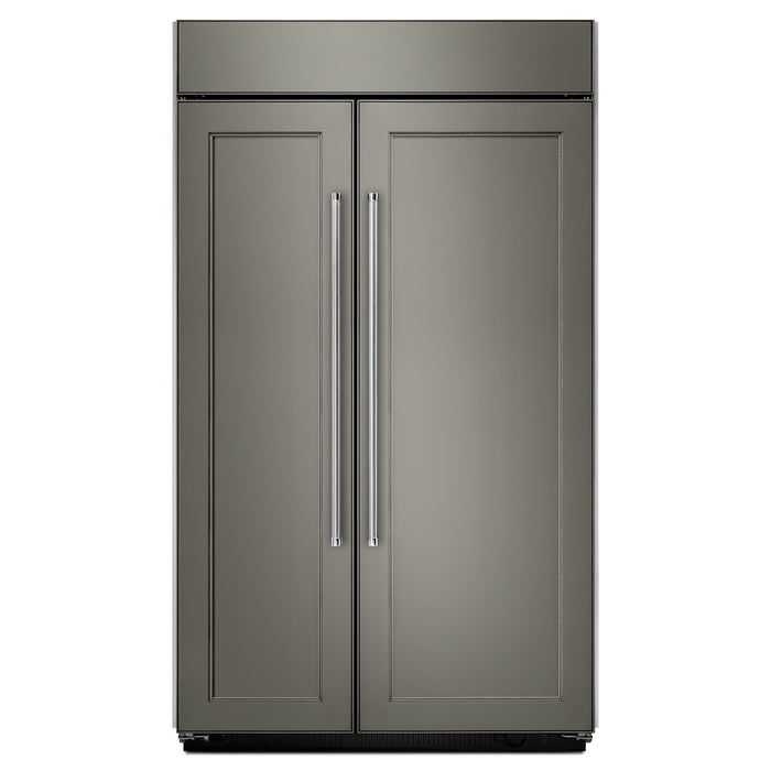 KitchenAid 30.0 cu. ft 48-Inch Width Built-In Side by Side Refrigerator with PrintShield Finish