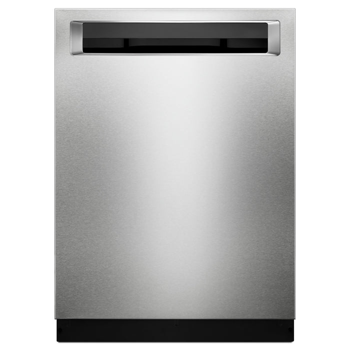 KitchenAid 46 DBA Dishwasher with Third Level Rack and PrintShield Finish, Pocket Handle