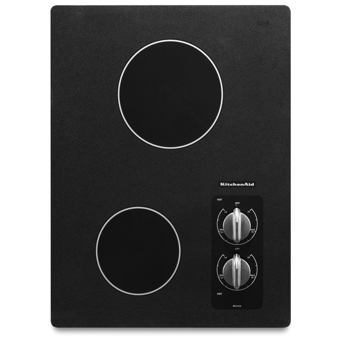 "KitchenAid 15"" Electric Cooktop with 2 Radiant Elements"