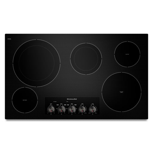 "KitchenAid 36"" Electric Cooktop with 5 Radiant Elements"