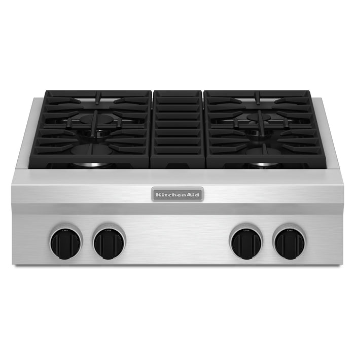 KitchenAid 30-Inch 4-Burner Gas Rangetop, Commercial-Style