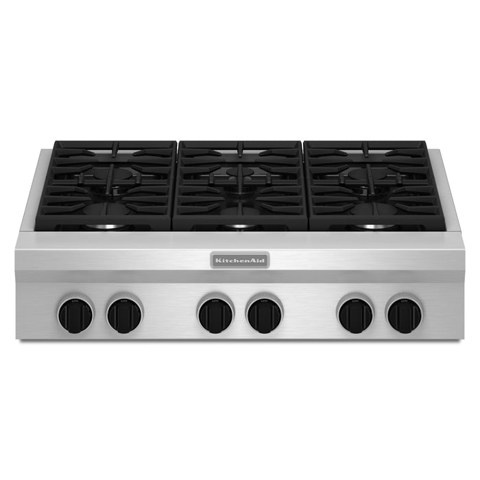 KitchenAid 36-Inch 6-Burner Gas Rangetop, Commercial-Style