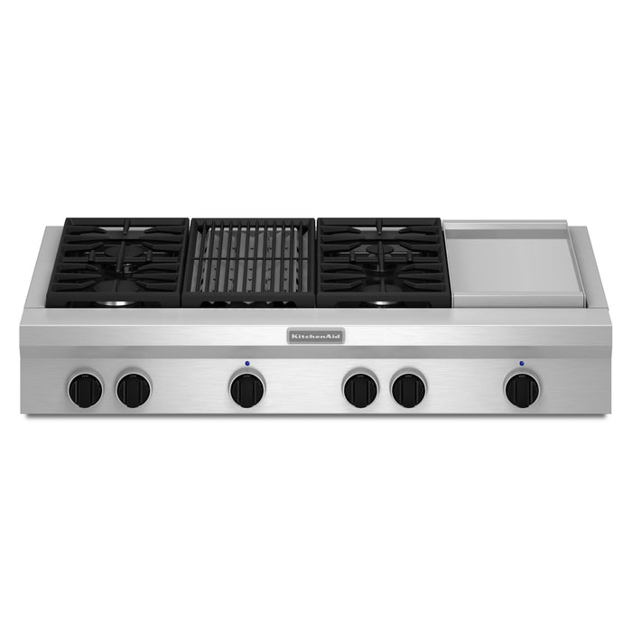 KitchenAid 48-Inch 4-Burner Gas Rangetop, Commercial-Style