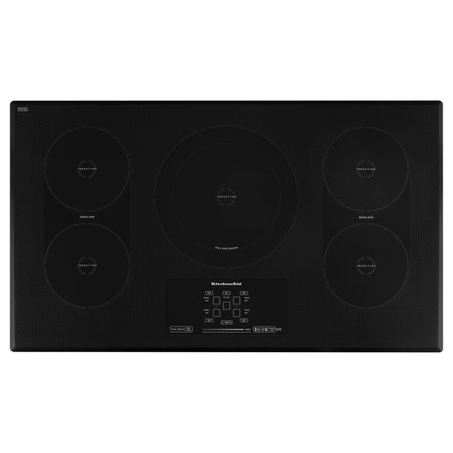 "KitchenAid 36"" Induction Cooktop with 5 Elements, Touch-Activated Controls and Power Slider"