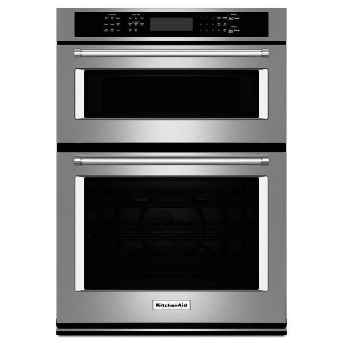 "KitchenAid 27"" Combination Wall Oven with Even-Heat True Convection (lower oven)"