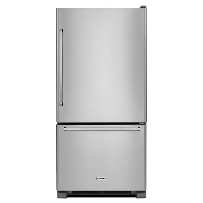 KitchenAid19 cu.ft. 30-Inch Width Full Depth Non Dispense Bottom Mount Refrigerator