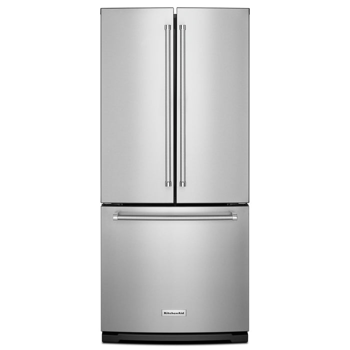 KitchenAid20 cu. Ft. 30-Inch Width Standard Depth French Door Refrigerator with Interior Dispense