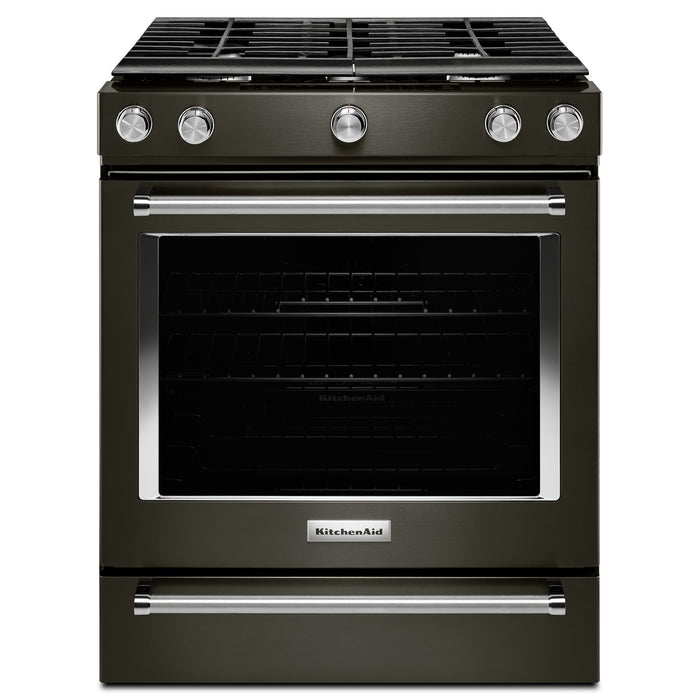 KitchenAid 30-Inch 5-Burner Gas Convection Front Control Range