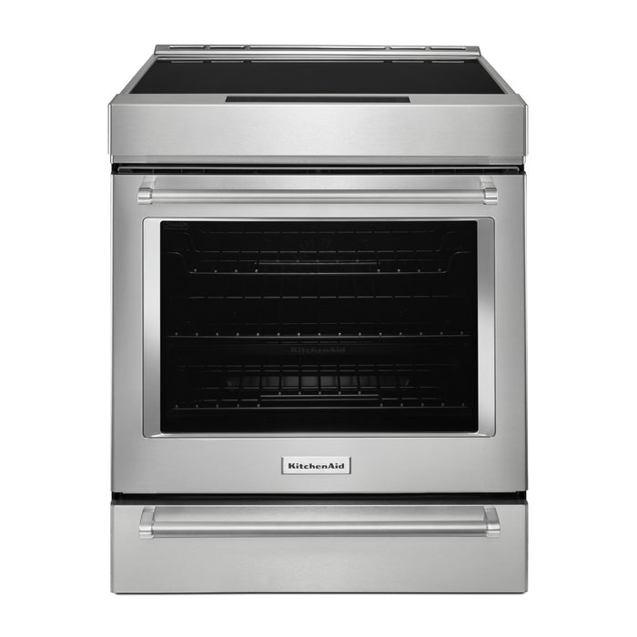 KitchenAid 30-Inch 4-Element Induction Convection Front Control Range with Baking Drawer
