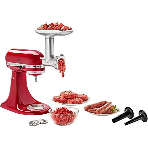 Kitchenaid Metal Food Grinder Attachment for Stand Mixer - KSMMGA