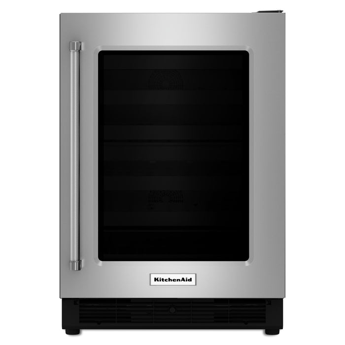 "KitchenAid24"" Stainless Steel Undercounter Refrigerator"