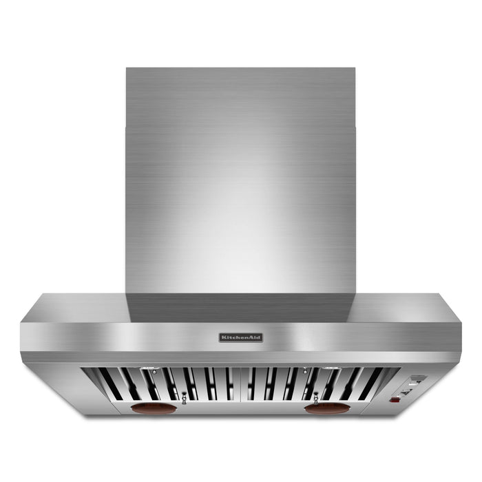"KitchenAid 36"" Wall-Mount 600-1200 CFM Canopy Hood, Commercial-Style"