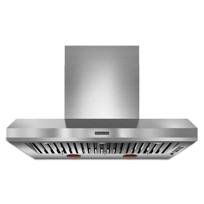"KitchenAid 48"" Wall-Mount 600-1200 CFM Canopy Hood, Commercial-Style"