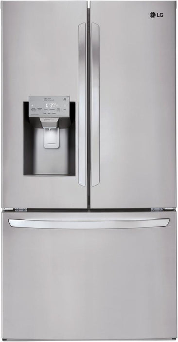 LG LFXC22526S 22 Cu. Ft. Smart Wi-Fi Enabled French Door Counter-Depth Refrigerator In Stainless Steel