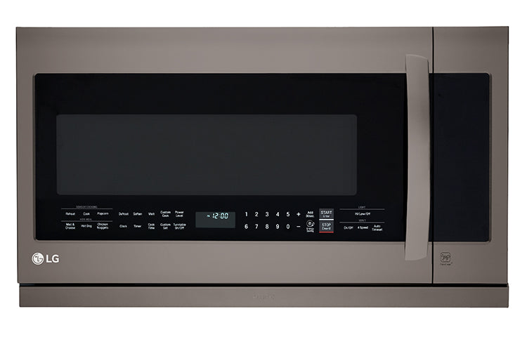 LG LMV2257BD 2.2 Cu Ft Over-the-Range Microwave with 2nd Generation Slide-Out ExtendaVent™ Black Stainless Steel