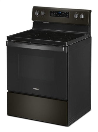 Whirlpool YWFE535S0JV 5.3 cu. ft. Electric Range with Self-Cleaning Oven in Black Stainless Steel