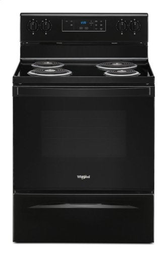 "Whirlpool YWFC150M0JB 30"" 4.8 Cu. Ft. Freestanding Electric Coil Top Range In Black"