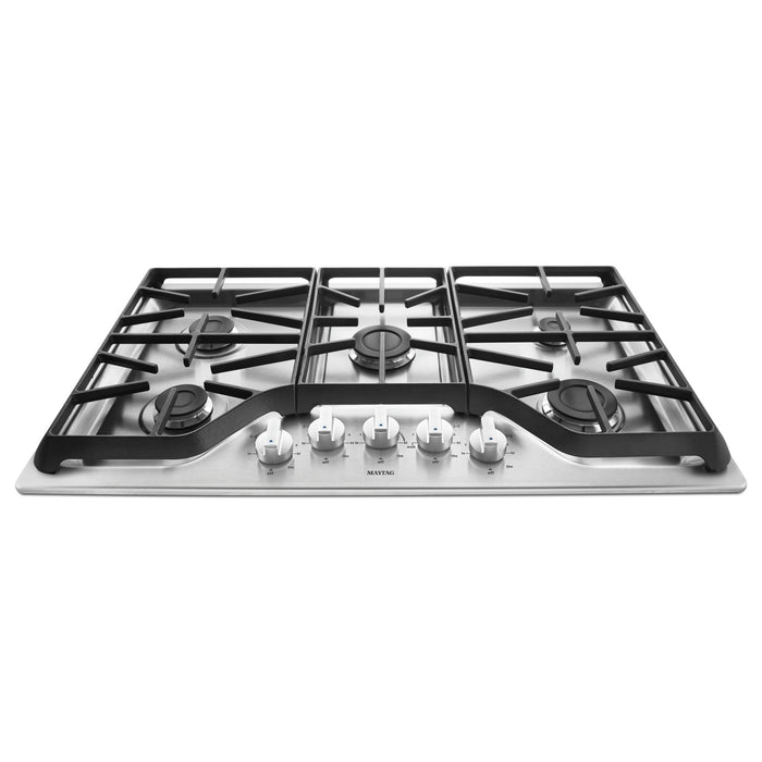 Maytag 36-inch 5-burner Gas Cooktop with Power Burner