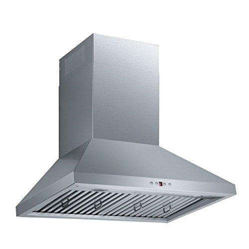 "MaxAir MXR-B01 30 Wall Mounted Brushed Nickel Stainless Steel Range hood 30"" 720 CFM Airflow - Range Hood - MaxAir - Topchoice Electronics"
