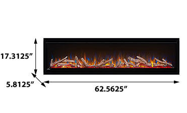 Napoleon NEFL60CHD Alluravision 60-Inch Deep Wall Mount Electric Fireplace