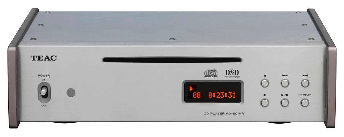 Teac CD Player with 5.6MHz DSD Disc Native Playback - PD-501HR Silver