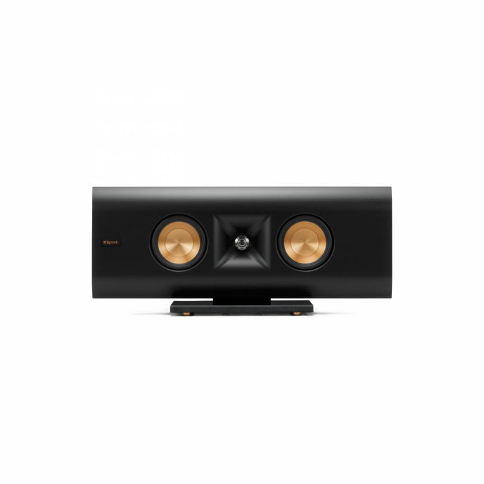 Klipsch Gallery 16 inch on-wall LCR with key hole mounts and table stand in a matte black finish - Speakers - Klipsch - Topchoice Electronics