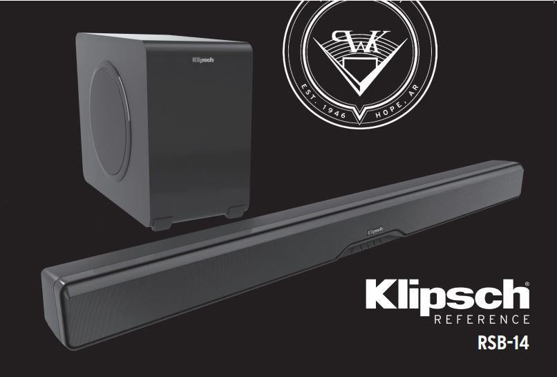 "Klipsch RSB-14 BT SoundBar with wireless 8"" woofer - Speakers - Klipsch - Topchoice Electronics"