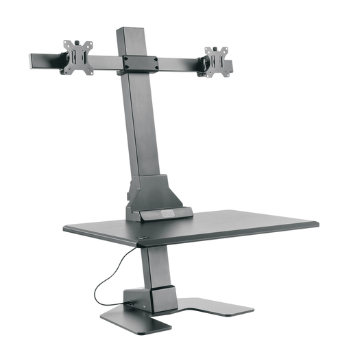Star Ergonomics Dual Monitor Electric Sit-Stand Workstation Premium Series- SE05E2WB