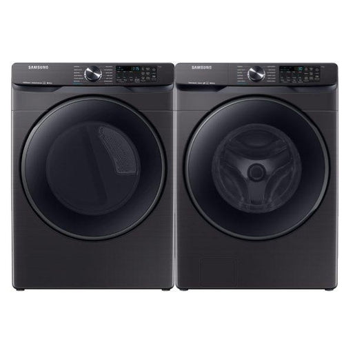 Samsung 5.8 cu. ft. Front Load Washer with 7.5 cu. ft. Electric Dryer With Steam Sanitize+ In Black Stainless Steel 8500 Series