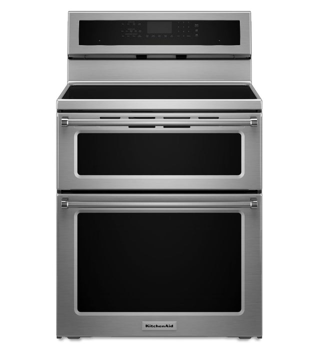 KitchenAid YKFID500ESS 0-Inch 4 elements Induction Double Oven Convection Range - Stainless Steel - Range - KitchenAid - Topchoice Electronics