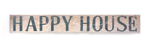 Splash ET1711 Long Wooden Sign-Happy House