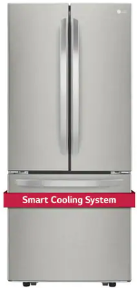 LG LFNS22520S 30-Inch 22 Cu. Ft. French Door Refrigerator with Smart Cooling System