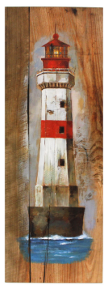 Splash ET2898 Wooden Painting - Lighthouse
