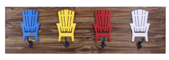 Splash MGH177 Wood Wall Decor-4 Adirondack Chair
