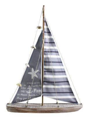 Splash RX114 Wooden Sail Boat Table Decor