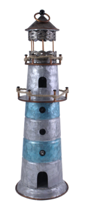 Splash FH539 Metal Galvanized Light House - Blue Strips