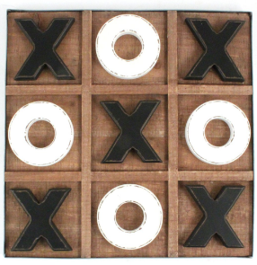 Splash ET1907S Wood Tic-Tac-Toe Board