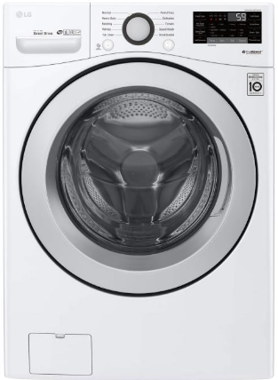LG WM3500CW 5.2 cu. ft. Front Load Washer with Ultra Large Capacity and 6Motion Technology - ENERGY STAR® in White