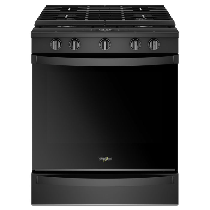 Whirlpool 5.8 Cu. Ft. Smart Slide-in Gas Range with EZ-2-Lift Hinged Cast-iron Grates<sup>1</sup>