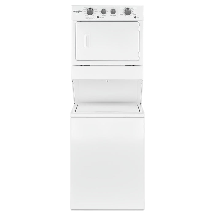 Whirlpool 4.0 cu.ft I.E.C. Gas Stacked Laundry Center 9 Wash cycles and AutoDry