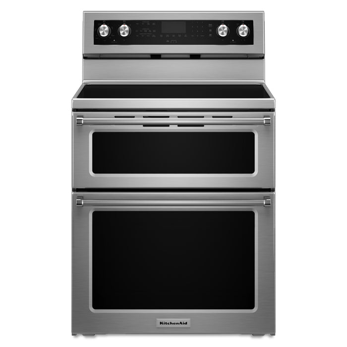 KitchenAid 30-Inch 5 elements Electric Double Oven Convection Range
