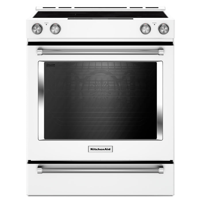 KitchenAid 30-Inch 5-Element Electric Convection Slide-In Range with Baking Drawer