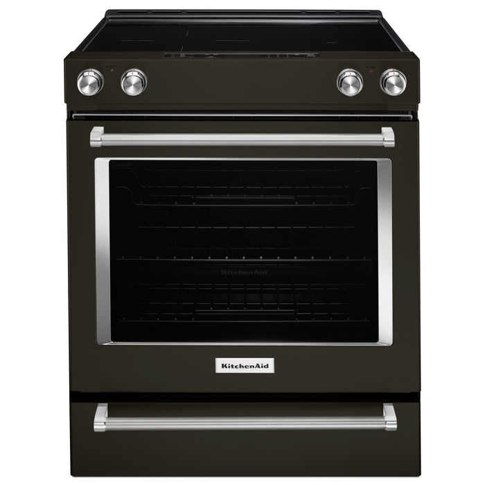 KitchenAid 30-Inch 5-Element Electric Slide-In Convection Range